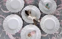 Set 6 farfurii pentru micul dejun din portelan alb