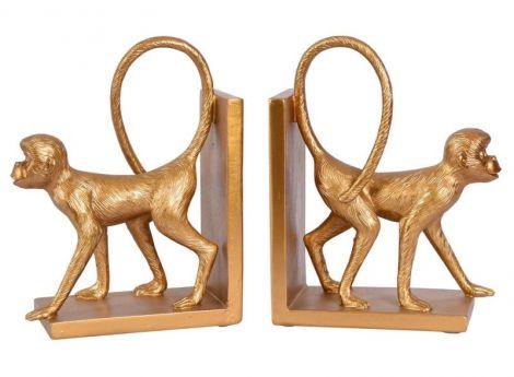 Set doua suporturi carti cu maimute aurii