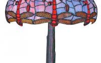 Lampa Tiffanny din bronz cu abajur din sticla