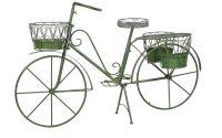Bicicleta din fier forjat antik green