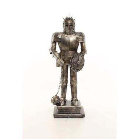 Armura mica argintie de cavaler  medieval cu ghiul