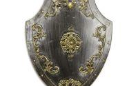 Platosa argintie din fier forjat antichizat  cu d