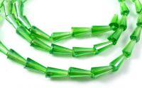 Margele conice cristal cu efect AB 12 x 6 mm