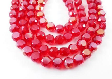Banut cristal fatetat rosu 10 x 6 mm