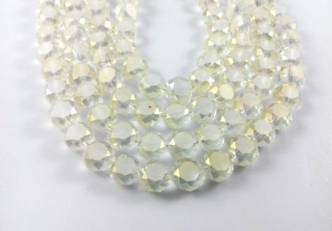 Banut cristal fatetat cleargalbui 10 x 6 mm