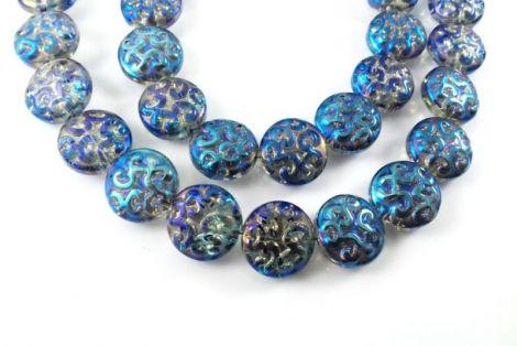 Banut cristal albastru cu efect AB 14 X 7 mm