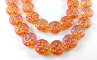 Banut cristal orange efect AB 14 x 7 mm