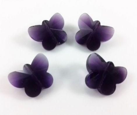 Margele cristal fatetat fluture 15 x 12 mm - Mov