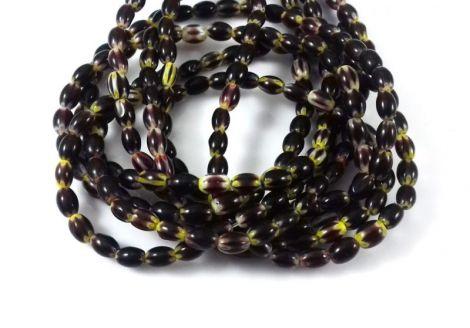 Margele sticla Millefiori 6 x 4 mm