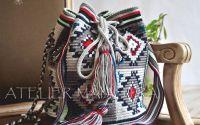 geanta handmade motiv popular din Banat ciutura