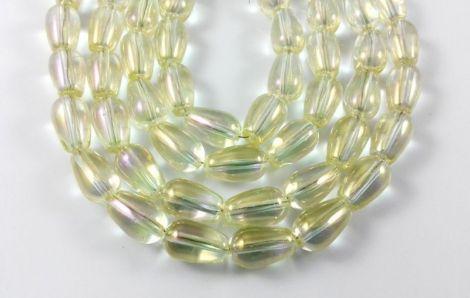 Margele sticla electroplacata picatura 13 x 8 mm
