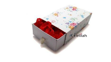 Cutii bijuterii slide in model floral