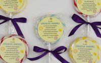 invitatie botez tema dulciuri acadea personalizata