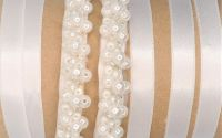 centura mireasa margele alb perlat ivory sidef