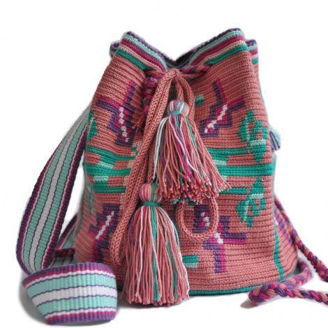 geanta crosetata motiv Bucovina gura-leului