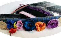 brau centura curea cordon floral colorat