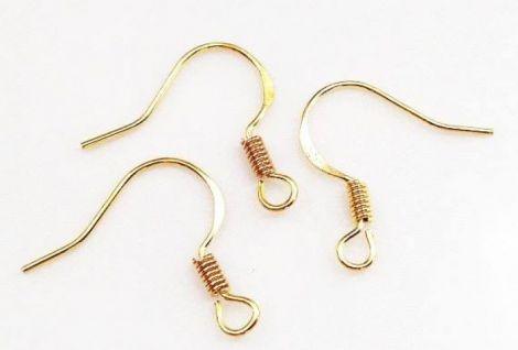 20 Tortite aurii cercei model frantuzesc 17 mm