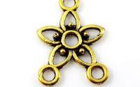Chandelier auriu antichizat 17.5 x 12 mm