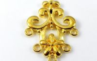 Chandelier cercei aurii 35 x 23 mm