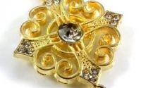 Conector masiv placat cu aur montura cristale