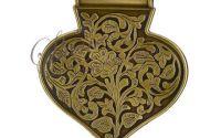 Pandantiv inima bronz antichizat 69x62.5x9mm