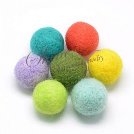 Margele colorate de fetru 20mm