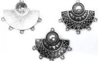 Chandelier cercei conector argintiu 6 anouri