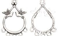 Chandelier cercei argintiu antichizat porumbei