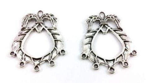 Chandelier cercei argintiu antichizat  32 x 40 mm