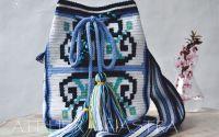geanta motiv popular Dobrogea floarea pologului