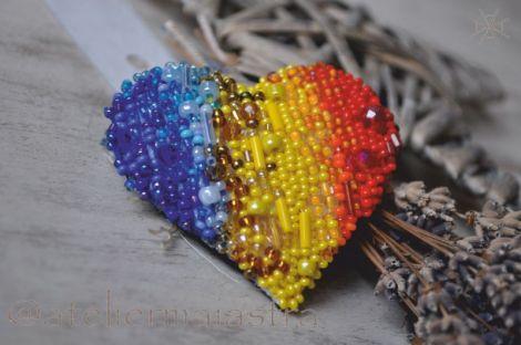 brosa inima tricolora brosa inima brosa tricolor