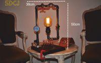lampa suport lemn steampunkdesigncj steampunk