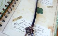 Semn de carte - vintage- piele - accesorii metalic