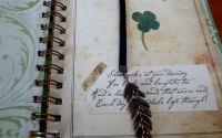 Semn de carte - vintage- piele -accesorii metalice