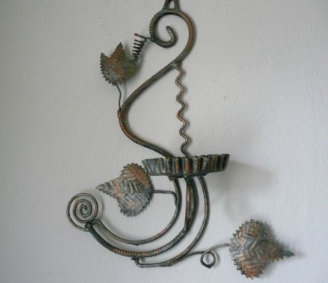 Suport decorativ -perete -ghiveci flori - vintage