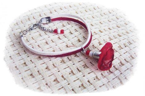 bratara martisor cu clopotel rosu