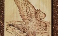 Tocator lemn pirogravat manual - vultur