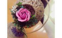 Aranjament handmade cu flori de spun