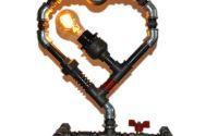 lampa inima steampunkdesigncj lampa steampunk