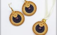 "Set soutache ""Magic coffe"""