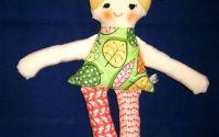 Papusa textila handmade - papusa seria Lulu