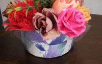 Aranjament flori de hartie