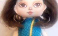 Papusa Hazel . papusa textila handmade
