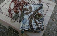 colier - carticica  mini agenda - boho  hippie -