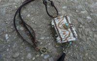 colier - carticica  mini agenda - boho  hippie