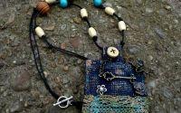 Altfel- colier textil dama boho  hippie  retro