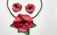 Flori set bijuterii din lut polimeric