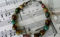 bratara dama - mixed beads