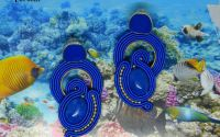 Cercei soutache DEEP BLUE