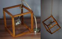 Pendul lemn tip cub lucrat manual